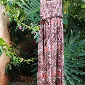 Guess | Paisley Strapless Maxi Dress